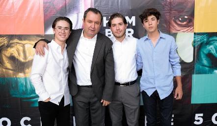 Juan Pablo, Humberto, Humberto y José María Abaroa.
