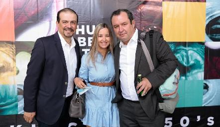 Alejandro Flores, Sidney Romo y Humberto Abaroa.