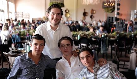 Humberto Abaroa, Patricio Labastida, Juan Pablo Abaroa y Manuel Díaz Infante.