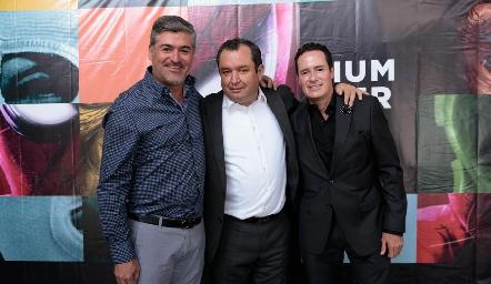 Oscar Zermeño, Humberto Abaroa y Meme Lozano.