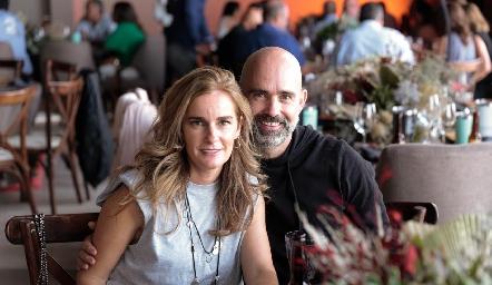 Lorena Quiroz y Leopoldo de la Garza.