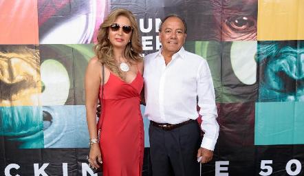 Cristina Mexicano y Celio Ramírez.