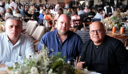 Poncho Téllez, Alonso Rico y Jorge Aguilar.