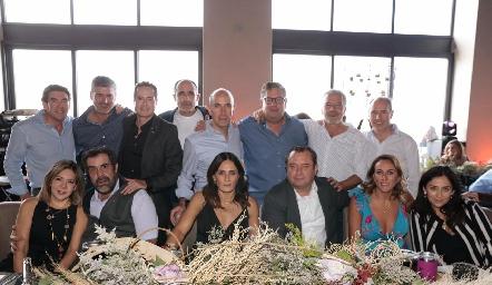 Humberto con sus grandes amigos.