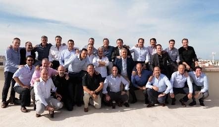 Humberto con sus mejores amigos.