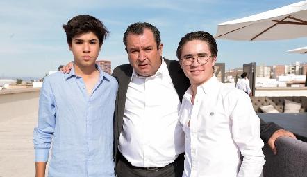 José María, Humberto y Juan Pablo Abaroa.