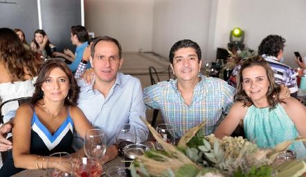 Yayis González, Manuel Abad, Pelón González y Mónica Portillo.