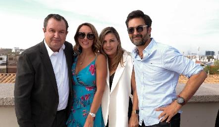 Humberto Abaroa, Sandra Salgado, Consuelo Fernández y Mario Macías.