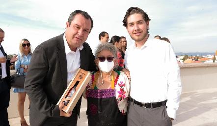Humberto Abaroa, Sabina Bandera y Humberto Abaroa.