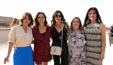 Verónica Malo, Fernanda Félix, Claudia Artolózaga, Cecilia Compean y María Esther Velázquez.