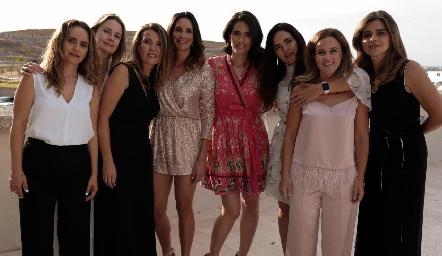 Viviana Navarro, Gaby Artolózaga, Vero de Hernández, Ana Aranda, Ana Paula Valdés, Romina Madrazo y Yezmín Sarquis.