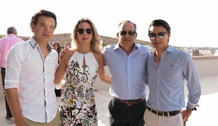 José Ramón Gómez, Vero Berrón, Ramón Gómez y Eduardo Siller.