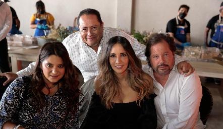 Chelito Padrón, Fito Arriaga, Liliana Soto y Javier Fernández.