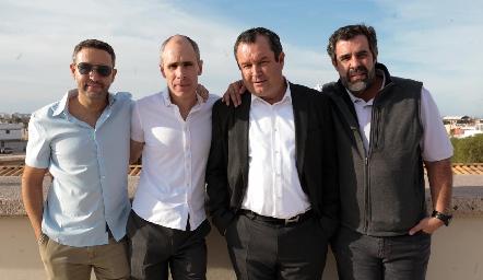 Hermanos Abaroa López, Gonzalo, Marcelo, Humberto y Fernando Abaroa.
