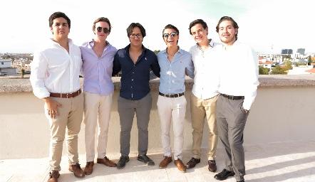 Fernando Abaroa, Alonso Rico, Jorge Aguilar, Eduardo Siller, Josera Gómez y Juan Pablo Abaroa.