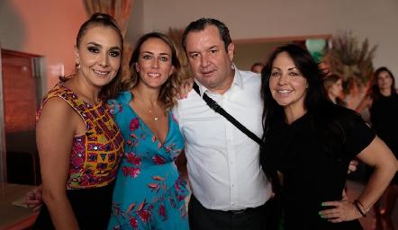 Flor Hernández, Sandra Salgado, Humberto Abaroa y Marcela Mathos.