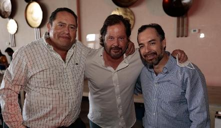 Fito Arriaga, Javier Fernández y Pablo Villarreal.