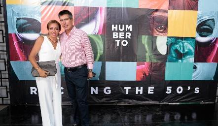 Karina y Mauricio Alcalde.