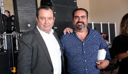 Humberto Abaroa y Juan José Leos.