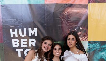 Andrea Almaguer, Marijó Medina y Marina Nieto.