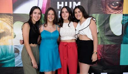 Andrea Villarreal, Regina de Anda, Regina González y Marijó García.