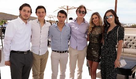 Humberto Abaroa, José Ramón Gómez, Eduardo Siller, Alonso Rico, Renata Acevedo y Federica Meade.