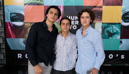 Mario Macías, Manuel Díaz Infante y Leo Rico.