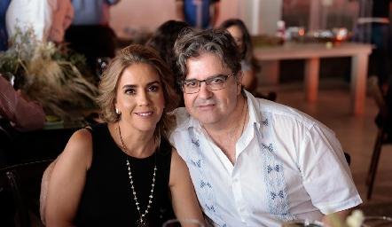 Georgina Benavente y Jorge Lozano.