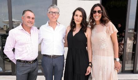 Javier Alcalde, Sergio Godínez, Silvia Reynoso y Delia Iduarte.