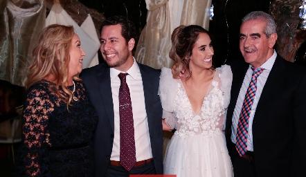 Lucía Alfaro, Juan Pablo Castillo, Lu y Mariano Borbolla.