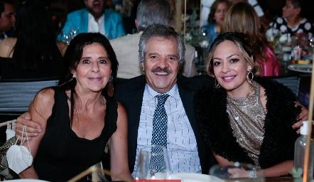 Andrea Castillo, Ignacio Guzmán y María Fernanda Domínguez.