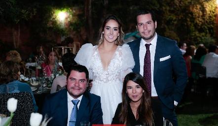 Lu Borbolla, Juan Pablo Castillo, Hugo Vidal y Marifer Leal.