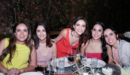 Mónica del Castillo, Ana Valle, Ana Paty Gerardo, Ale Negrete y Andrea Cuevas.