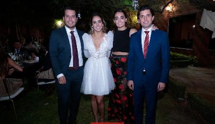 Juan Pablo Castillo, Lu Borbolla, Marianela Villasuso y Gerardo Serrano.