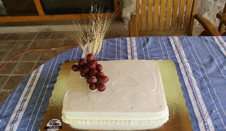 El pastel.