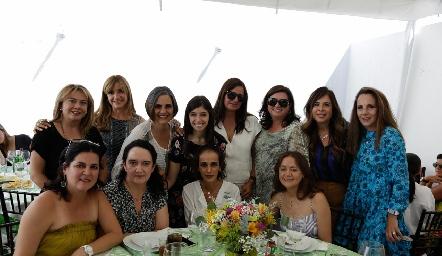 Marcela Navarro, Lula Alvarado, Vero Díaz Barreiro, María Villasuso, Sara Gutiérrez, Ale Saiz, Pily Díaz de León, Claudia Pedroza, Cynthia Sánchez, Ceci Hernández, Iliana Ramos y Elsa Izaguirre.