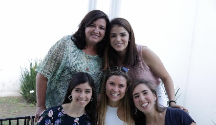 Alejandra Saiz, Margaret González, María Villasuso, Isabela Córdoba y Adriana Almaguer.