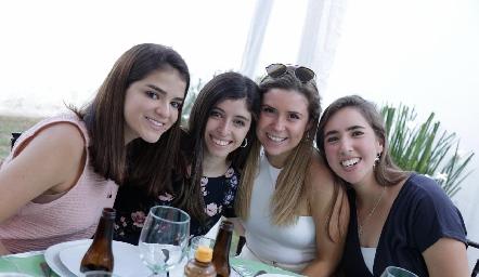 Margaret González, María Villasuso, Isabela Córdoba y Adriana Almaguer.