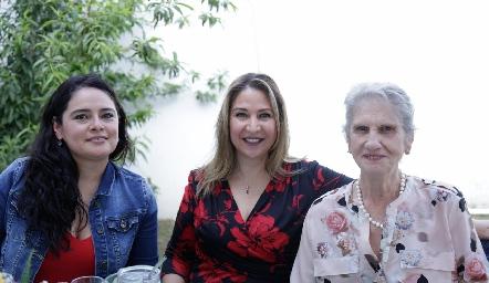 Isabel Castañeda, Erika Flores y María de Lourdes Gómez.