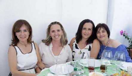 Gaby Sánchez, Olga de la Torre, Silvia Ducolumbier y Pita Retes.