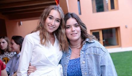 Sofía Vallejo y Carlota de la Garza.