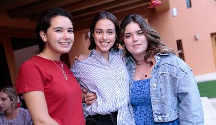 Natalia Hampshire, Vale Navarro y Carlota de la Garza.