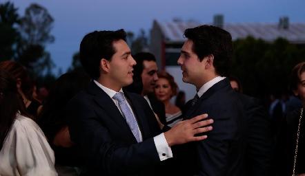Los hermanos Diego y Mauricio Tobías Hinojosa.