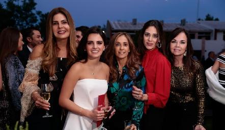 Martha Díez Gutiérrez, Adriana Olmos, Mónica Gaviño, Maribel Lozano y Elsa Tamez.