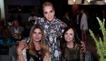Martha Díez Gutiérrez, Mimí Hinojosa y Elsa Tamez.