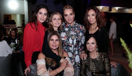 Maribel Lozano, Anabel Gaviño, Mimí Hinojosa, Lorena Herrera, Martha Díez Gutiérrez y Elsa Tamez.