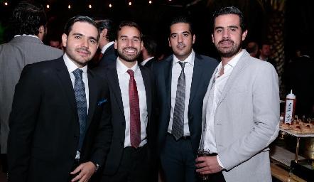Mauricio Mahbub, Jaime Alvarado, José Antonio Alonso y Rodolfo Ortega.