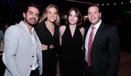 Rodolfo Ortega, Bety Hernández, Renata Nava y Francisco Alonso.