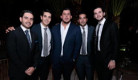 Mauricio Mahbub, Mauricio Tobías, Toro Gómez, José Antonio Alonso y Eduardo Torre.