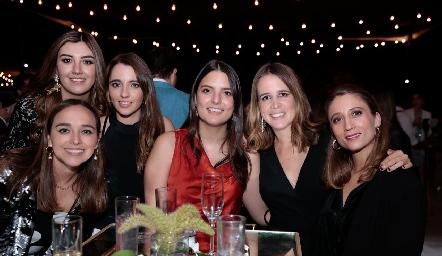 Marife Ramírez, Ana Gaby Motilla, Ana Pau de los Santos, Gaby González, Montse Anaya y Sofía César.